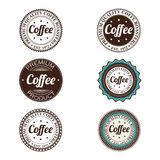 Coffee labels Royalty Free Stock Image