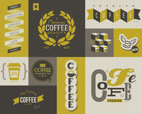 Coffee labels and badges. Set of vector design elements.