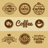 Coffee labels and badges. Royalty Free Stock Image