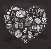 Coffee labels. Royalty Free Stock Images