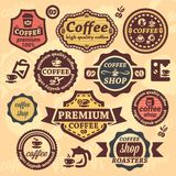 Coffee labels Stock Image