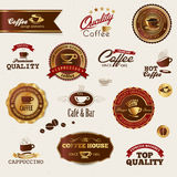 Coffee labels and elements Stock Images