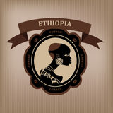 Coffee labels and elements. Ethiopia Royalty Free Stock Images