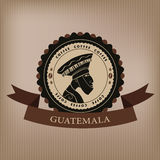 Coffee labels and elements. Guatemala Royalty Free Stock Photos