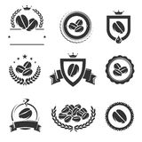 Coffee labels and icons set. Vector Royalty Free Stock Photo
