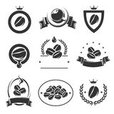 Coffee labels and icons set. Vector. Illustration Stock Image