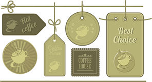 Coffee labels leather texture Royalty Free Stock Photos