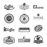 Coffee Labels Logo Stock Images