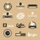 Coffee Labels Logo Royalty Free Stock Image