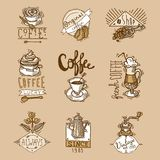 Coffee Labels Set Stock Photo