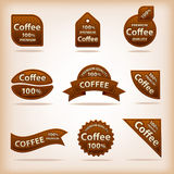 Coffee labels Royalty Free Stock Photo