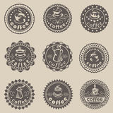 Coffee labels Stock Photos