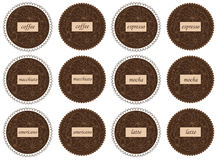 Coffee labels Royalty Free Stock Images