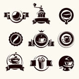 Coffee labels set. Vector Stock Images