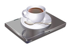 Coffee and laptop Royalty Free Stock Photography