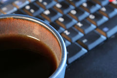 Coffee and Laptop Stock Images