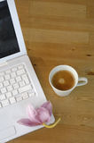 Coffee laptop Royalty Free Stock Images