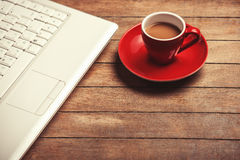 Coffee and laptop Royalty Free Stock Photo