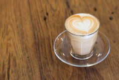 Coffee late art Stock Photo