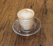 Coffee late art Royalty Free Stock Image