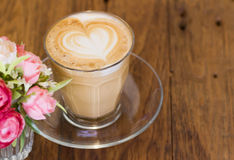 Coffee late art Royalty Free Stock Images