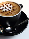 Coffee latte. Black coffee latte with wonderful taste Stock Image
