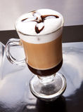 Coffee Latte. Close up hot Coffee latte, Mocca coffee royalty free stock photos