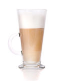 Coffee latte. On white background stock images