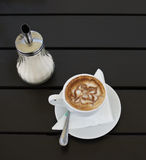 Coffee latte art. Stock Photos