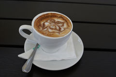 Coffee latte art. Stock Images