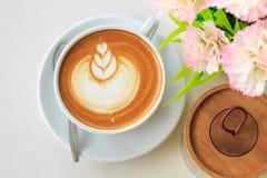 Coffee. Latte art coffee stock photo