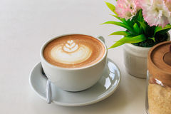 Coffee. Latte art coffee Stock Photos