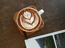 Coffee. Latte art Stock Photography