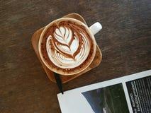Coffee. Latte art stock photography