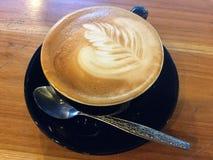 Coffee. Latte art. stock image