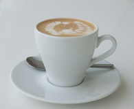 Coffee with latte art Royalty Free Stock Photo