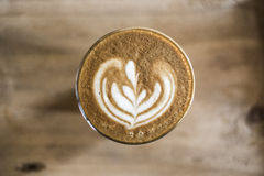 Coffee latte art Royalty Free Stock Image