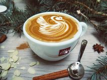 Coffee, Latte, Art, Espresso Royalty Free Stock Photography