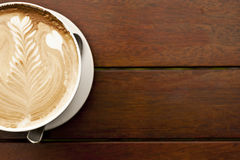 Coffee with latte art Royalty Free Stock Photos