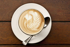 Coffee with latte art Royalty Free Stock Photography