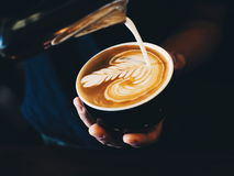 Coffee latte art Stock Image