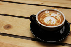 Coffee Latte. A coffee latte art with an image of a dog Royalty Free Stock Photos