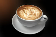 Coffee latte art Royalty Free Stock Photo