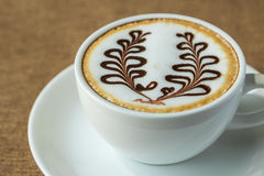 Coffee latte art Stock Photography