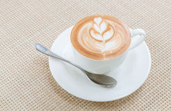Coffee latte art Stock Images