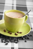 Coffee latte with beans Stock Image