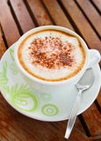 Coffee latte or cappuccino in a cup Stock Photography