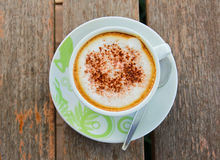 Coffee latte or cappuccino in a cup Royalty Free Stock Images