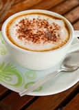Coffee latte or cappuccino in a cup Stock Photo