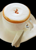 Coffee latte or cappuccino in a cup Stock Images